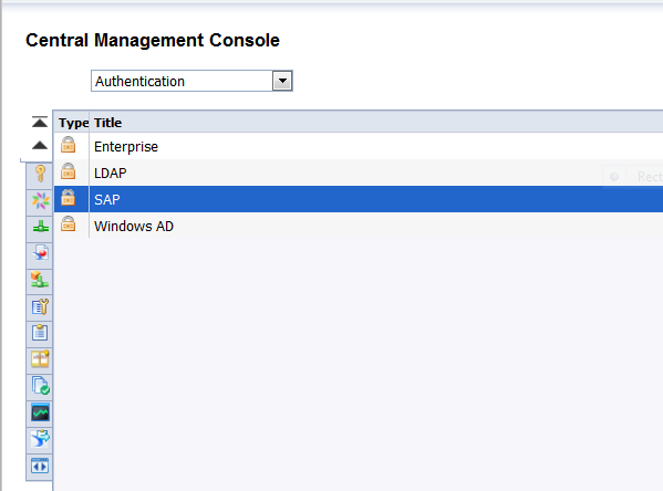 SAP Authentication - Initial Screen