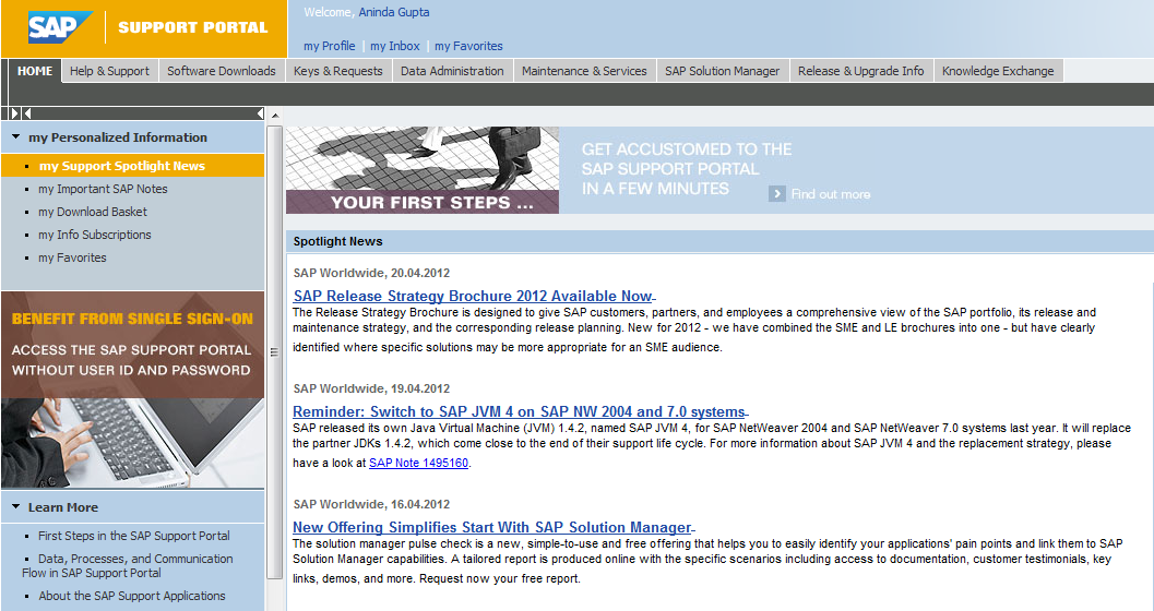 AS Java Security – Sap Security Pages
